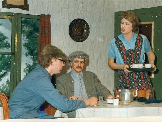 Uitvoering EJV 1984 Zilveruitjes en Augurken. (Henk Nijkamp, Manny Wegen en Willy Reilink)
