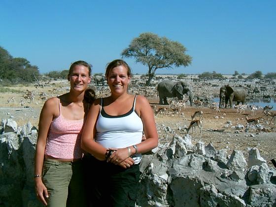 Helga en ik in Namibië