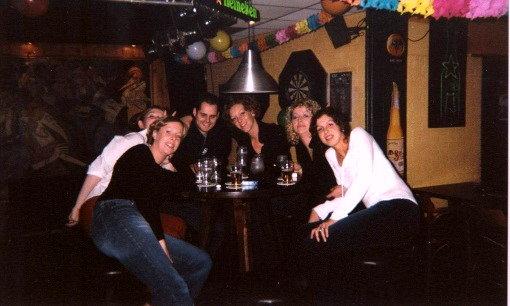 Verjaardagsfeestje van René, Marieke (komen beide uit Groningen) en ik in Groningen (november 2002)